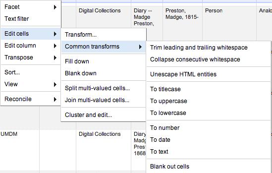Open Refine Data Transformations