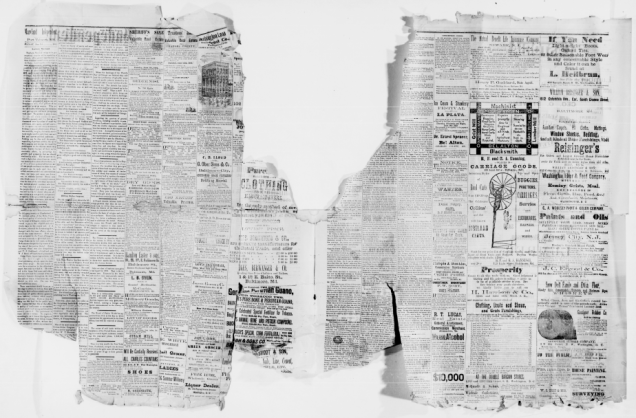 Mutilated pages from the Maryland Independent